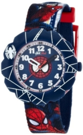 Flik Flak Watches Jungen-Armbanduhr Spiderman Analog Quarz Textil FLSP001 -