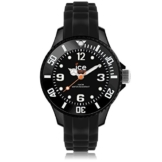 Ice-Watch Unisex-Armbanduhr Analog Quarz Silikon SI.BK.M.S.13 -