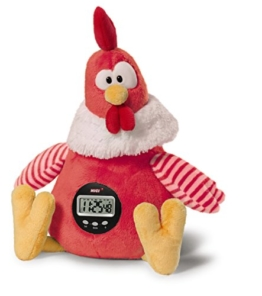 Nici 38470 - NICI Hahn Good Morning Buddy Schlenker mit Weckerfunktion in Geschenkverpackung, 35 cm, rot -