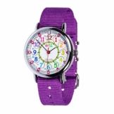 EasyRead time teacher ERW-COL-24Â Armbanduhr 12-24, Violett (2 Farben verfügbar) - 1